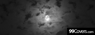 cloudy night sky moon Facebook Cover Photo