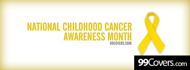 National Childhood Cancer Awareness Month Facebook Cover