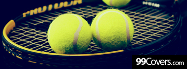 tennis racket and balls Facebook Cover