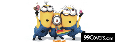 despicable me 2 minions cute Facebook Cover