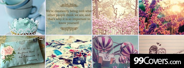 girly everything collage Facebook Cover Photo