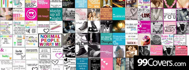 glitter words collage Facebook Cover Photo
