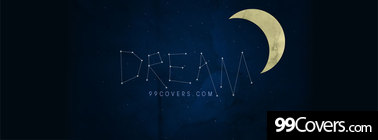 dream constellation stars moon Facebook Cover Photo