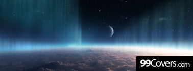 space earth moon Facebook Cover Photo