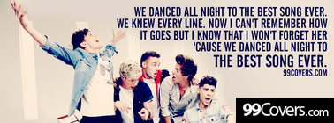 One Direction Best Song Ever lyrics Facebook Cover Photo