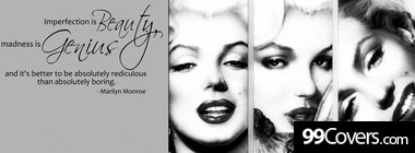 monroe quote photos Facebook Cover