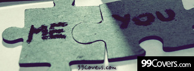 love puzzle facebook cover image Facebook Cover Photo