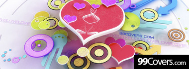 colorful love facebook timeline cover photo Facebook Cover Photo