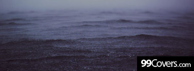 rainy ocean Facebook Cover Photo