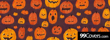 halloween pumpkins pattern Facebook Cover Photo