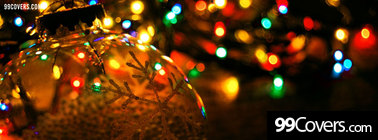 christmas lights ornaments Facebook Cover Photo