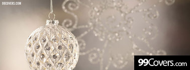 silver christmas ornament Facebook Cover