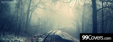 cold train tracks Facebook Cover Photo