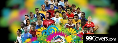 Brazil 2014 World Cup Football Stars Facebook Cover Photo