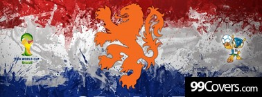 Netherlands Leeuw Football Crest Ons Oranje 2014 Facebook Cover Photo