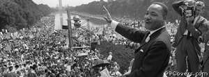 martin luther king crowd Facebook Cover