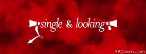 single and looking at profile pic Facebook Cover
