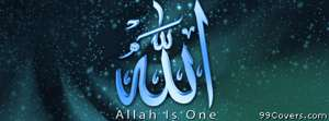 allah is one Facebook Cover