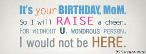 mom birthday happy Facebook Cover