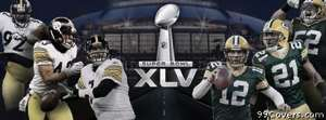 green bay packers vs steelers superbowl Facebook Cover