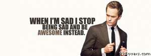 barney stinson awesome quote Facebook Cover Photo