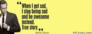 barney stinson quote Facebook Cover