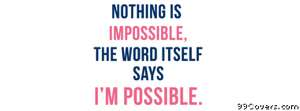 nothing is impossible Facebook Cover Photo