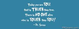 youer than you dr suess Facebook Cover Photo