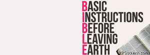basic instructions bible Facebook Cover Photo