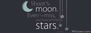 shoot for the moon Facebook Cover Photo