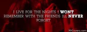 friends i wont forget Facebook Cover Photo