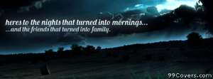 nights and mornings friends and family Facebook Cover Photo