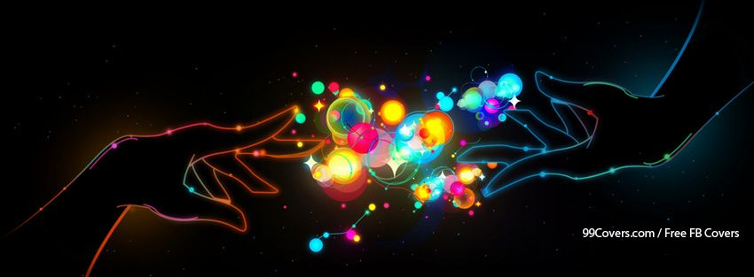 Colourful Abstract Hands Facebook Cover Photos