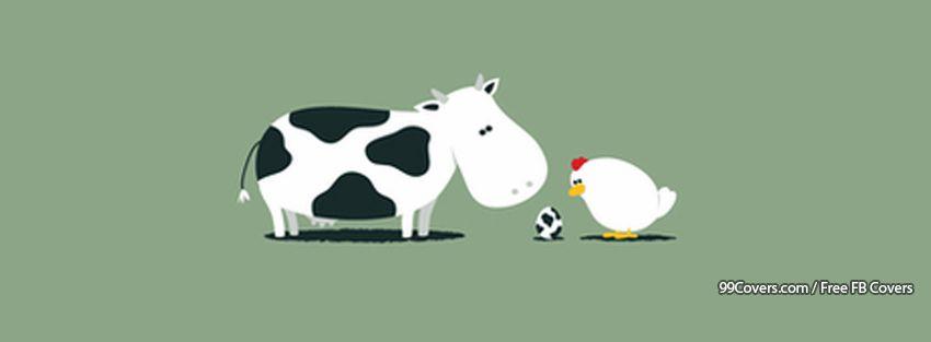 Cow Chicken Facebook Cover Photos