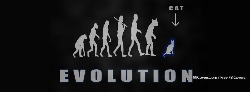 Evolution Funny Cat Human Facebook Cover Photos