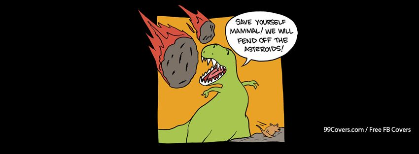 Dinosaur Trex Asteroids Mammal Facebook Cover Photos