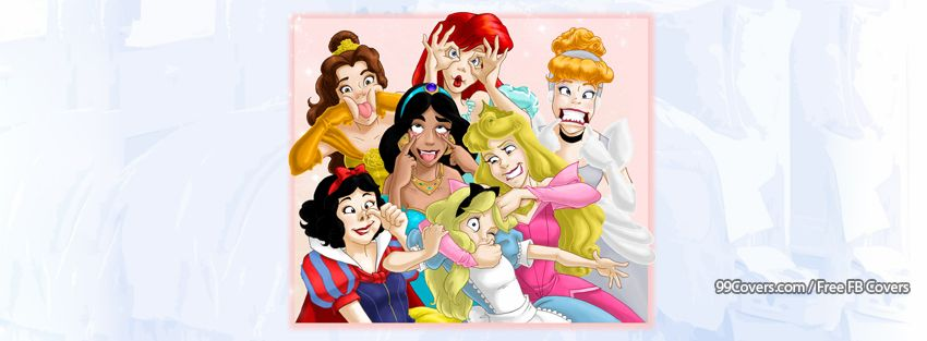 Facebook Cover Photos - Disney Princesses Funny Faces ...