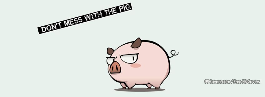 Funny Pig Tough Facebook Cover Photos