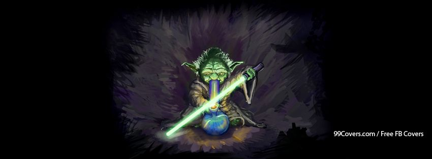 Yoda Bong Weed Star Wars Drug Drugs Funny Facebook Cover Photos