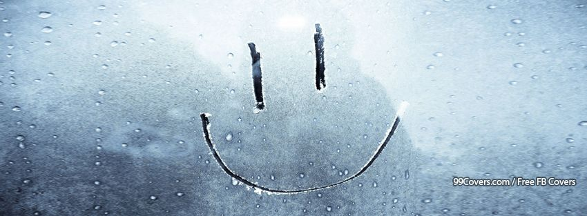 Smile Cute Funny Smiley Window Frosty Facebook Cover Photos