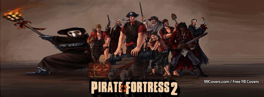 Valve Pirate Funny Parody Team Fortress 2 Facebook Cover Photos