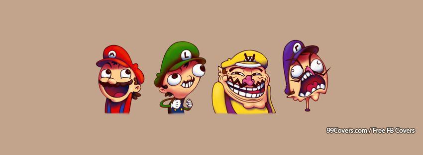 Meme Mario Facebook Cover Photos