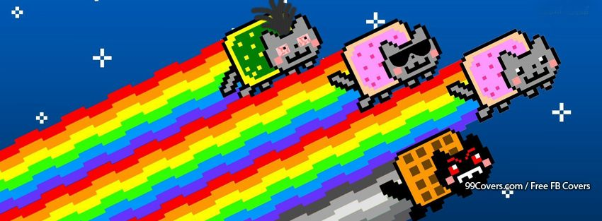 Nyan Cats 6 Facebook Cover Photos