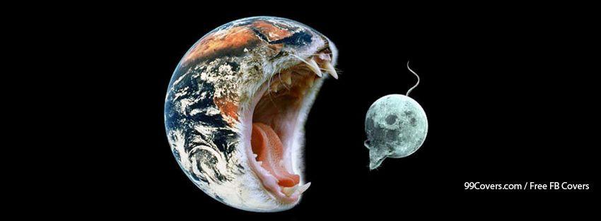 Mouse Moon Earth Cat Facebook Cover Photos