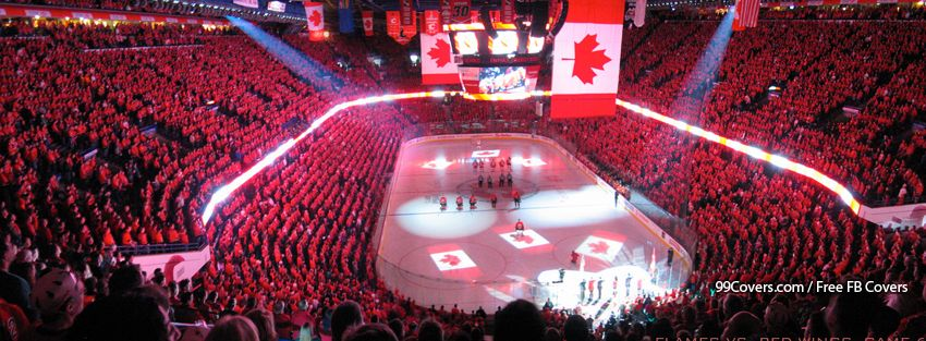 Calgary Flames Hockey Rink Facebook Cover Photos