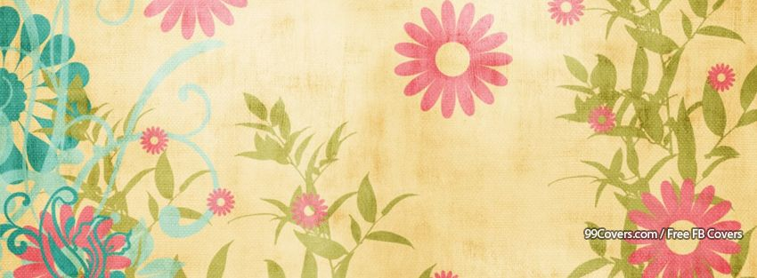 Facebook Cover Photos Spring Floral Pattern Facebook Cover Photos