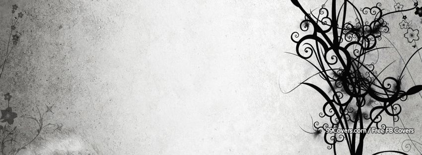 Abstract Grunge Floral Facebook Cover Photos