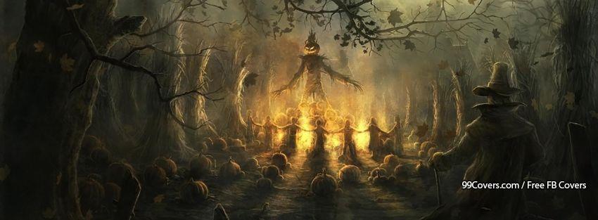Facebook Cover Photos Creepy Halloween Scarecrow Facebook Covers