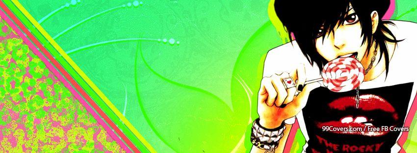 Facebook Cover Photos Hipster Emo Anime Boy With Candy Facebook