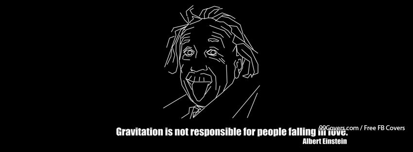 Funny Albert Einstein 2 Facebook Cover Photos